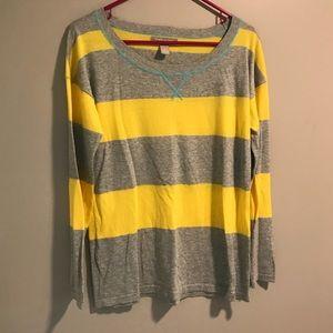 Banana Republic Yellow Gray Color Block Sweater